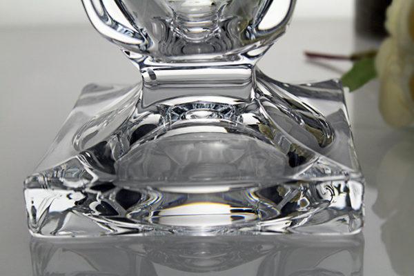 jarrón de cristal magma detalle